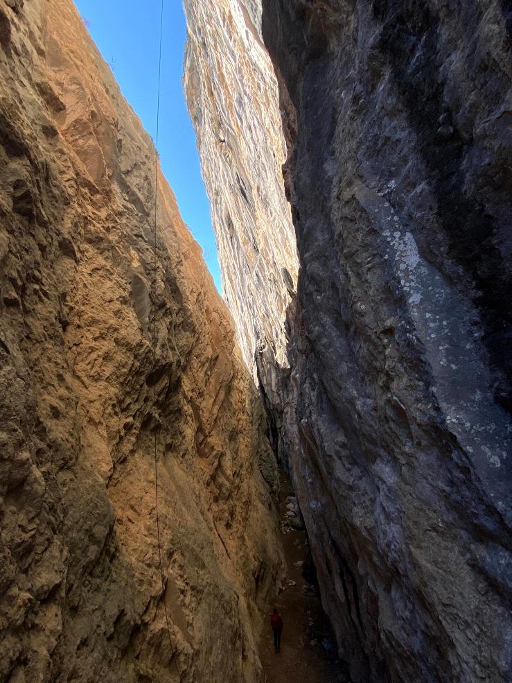 Woman stood in the deep Kanyon of Çitdibi.