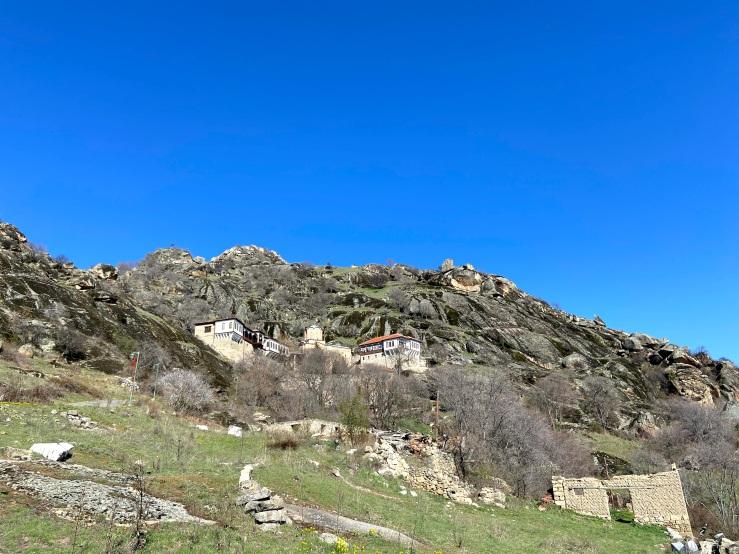 St Archangel Michael monastery high on the hills.