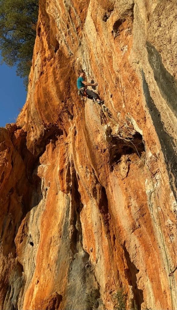 Climber on Karinca at Magara