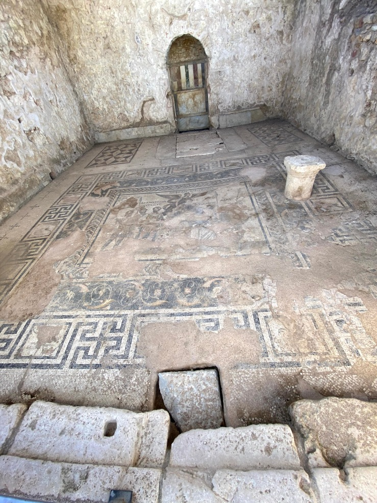 Beautiful and detailed mosaic floor